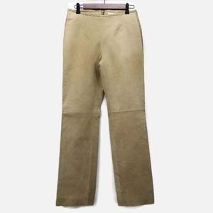 Hugo Buscati Leather Suede Lined Braided Pants
